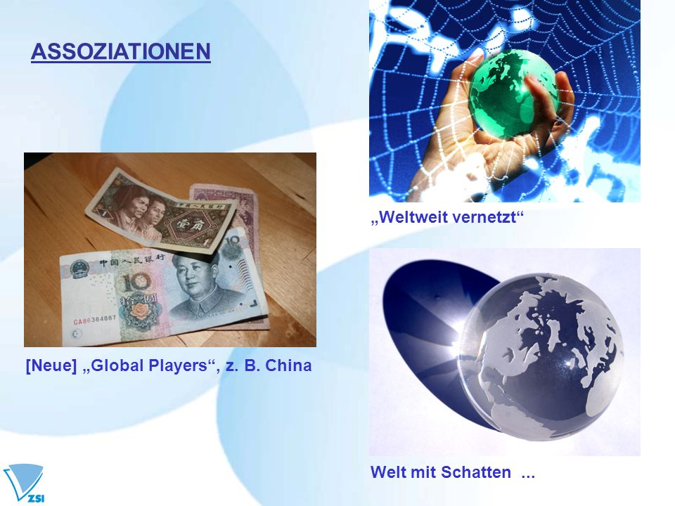 "ASSOZIATIONEN ""Weltweit vernetzt [Neue] ""Global Players , z. B. China"